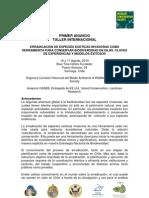 ERRADICACIÓN DE ESPECIES EXÓTICAS INVASORAS CHILE