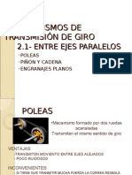 2- Mecanismos de Transmision de Giro Entre Ejes Paralelos