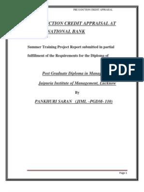 credit appraisal at PNB   Banking   Banks