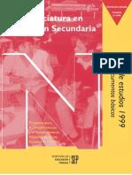 Plan de Estudios Secundaria 1999