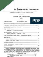 Coast Artillery Journal - Nov 1924