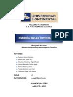 Monografia de Sistema Solar Fotovoltaico