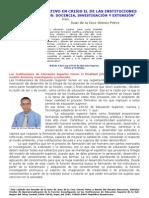 UN MODELO EDUCATIVO EN CRISIS EL DE LAS INSTITUCIONES DEL NIVEL SUPERIOR