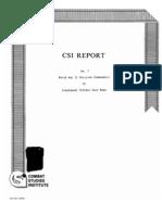 CSI Report No. 7 World War II Division Commanders
