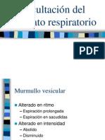 Auscultación del aparato respiratorio