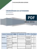 Cronograma de Artes 12-13
