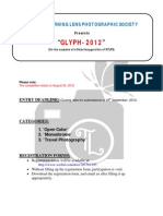 GLYPH 2012 Rules Nd Regulations