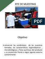 Trasporte de muestras y parámetros a evaluar en