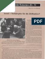 Historische Tatsachen - Nr. 70 - Udo Walendy - Israel - Vorkaempfer Fuer Die Zivilisation (1997, 40 S., Scan)