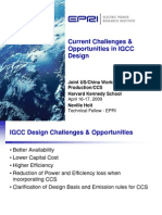 Current Challenges and Opportunities in IGCC Design Harvard WS