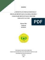Skripsi Program Studi Ilmu Komputer Universitas Pakuan Bogor - Sistem Penentuan Jurusan Ditingkat SMA Negeri I Tamansari Menggunakan Certanty Factor