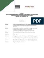 """Programa """"Charla Proyecto Iberoamericano de Evaluación de Documentos"""