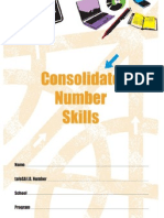 consolidate number skills