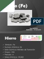 Hierro Materiales