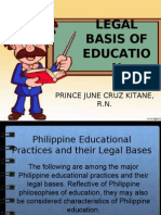 Legal Basis of Education