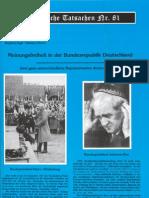 Historische Tatsachen - Nr. 81 - Siegfried Egel Und Barbara Hirsch - Meinungsfreiheit in Der Bundesrepublik Deutschland (2001, 40 S., Scan)