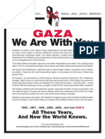 GAZA We Are With You