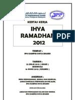 KERTAS KERJA Ihya' Ramadhan 2012