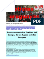 Noticias Uruguayas Viernes 24 de Agosto Del 2012
