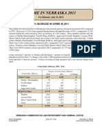 2011 Crime in Nebraska Preliminary Report (July 2012)