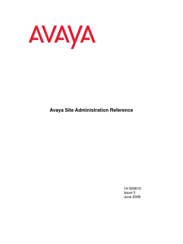 avaya site administration guide file transfer protocol telephone rh scribd com avaya site administration 6.0 user guide Avaya Screen Shot