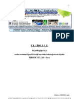 Elaborat-prijedlog rjesenja tretmana otpadnih voda za otpad
