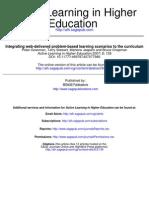 Peter Gossman Et Al. 2007_integrating Web Delivered Problem-based Learning Scenarios to the Curriculum