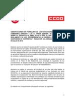 Observaciones UGT CCOO Despidos