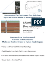 Unconventional Gas Development from Shale Plays