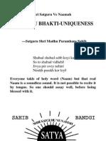 Satguru Bhakti (Uniqueness) (English)