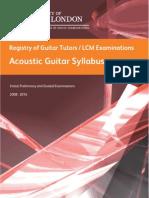 Acoustic Guitar Syllabus