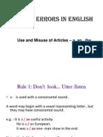 Common Errors in English- Articles & Prep