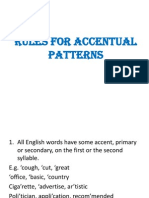 Rules Accent Patterns