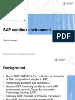 SAP Sandbox Environment