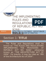 The Implementing Rules and Regulations (Irr)