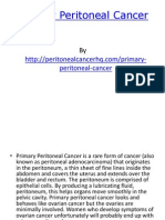 Primary Peritoneal Cancer