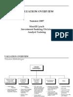 Merrill Lynch 2007 Analyst Valuation Training