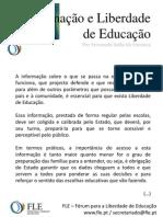 Informação e Liberdade de Educação - por Fernando Adão da Fonseca