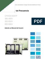 WEG Cfw 09 Arriba de 500hp Adendo Ao Manual Del Usuario 0899.5109 Manual Espanol
