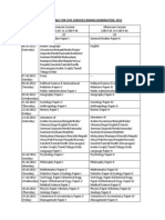 Civils Mains Time Table 2012