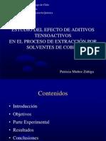ESTUDIO DEL EFECTO DE ADITIVOS TENSOACTIVOSEN EL PROCESO DE EXTRACCIÓN POR SOLVENTES DE COBRE