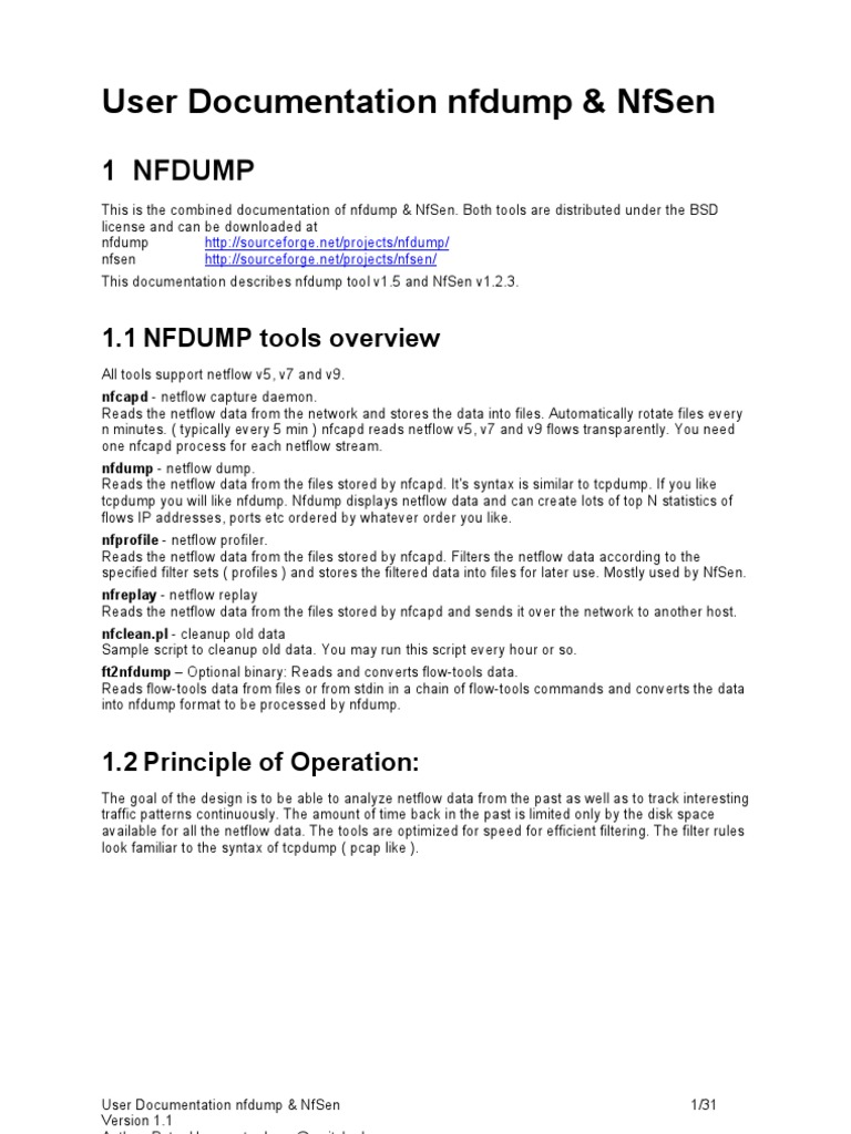 nfsen nfdump Part one of our three part series on c3cm will utilize nfsight with nfdump, nfsen, and fprobe to conduct our identification phase these netflow tools make much sense when attempting to identify the behavior of your opponent on high volume networks that don't favor full packet capture or inspection.
