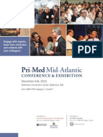 Pri-Med Mid-Atlantic 2012 Full Conference Brochure