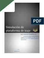 Informe de simulación de plataforma de izaje