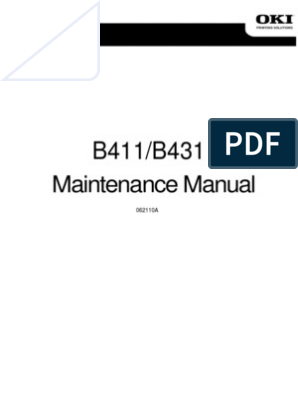 Oki B411 B431 Service Manual   Electrostatics   Power Supply