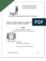 Redes Sociales en Internet, nuevos espacios públicos para una sociedad civil en México