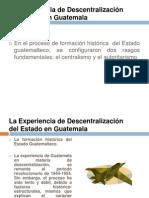 La Descentralizacion en Guatemala