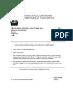 Percubaan PMR 2012 Bahasa Inggeris (1) N9