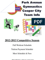 2012 - 2013 Cooper City Team Payment and Meet Schedule Packet