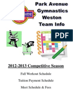 2012 - 2013 Weston Team Payment and Meet Schedule Packet